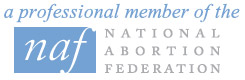 A professional member of the National Abortion Federation